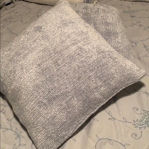 Pottery Barn Set of 2 Chenille Throw Pillow Covers